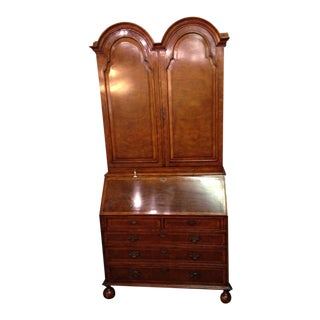 20th Century Queen Anne Walnut Secretary For Sale