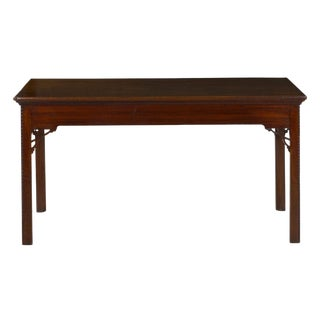 18th Century English Chippendale Rectangular Mahogany Antique Console Center Table For Sale
