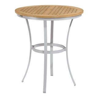 "36"" Round Café Outdoor Bar Table, Natural For Sale"