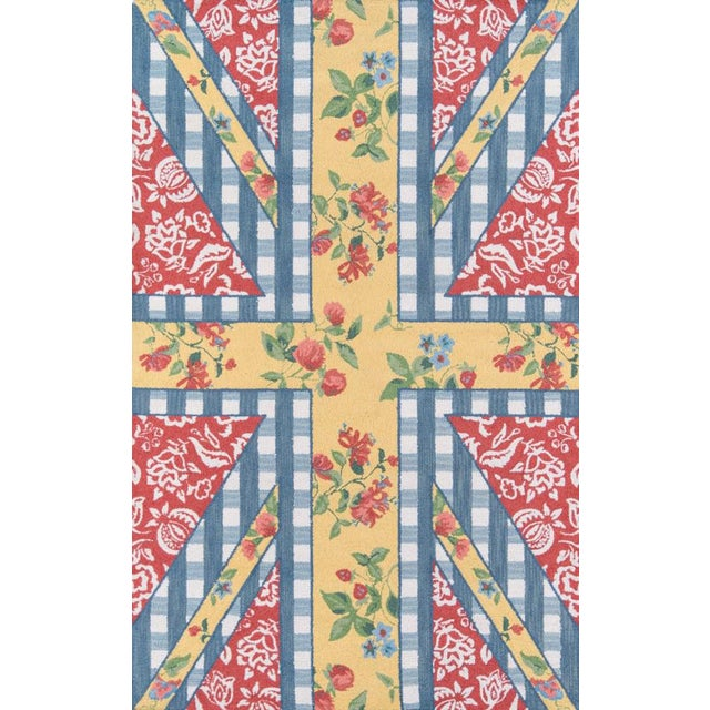 """Madcap Cottage Summer Garden Think of England Multi Area Rug 3'6"""" X 5'6"""" For Sale"""