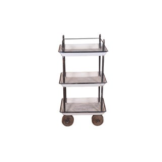 Alec Industrial Iron and Wood Rolling Cart