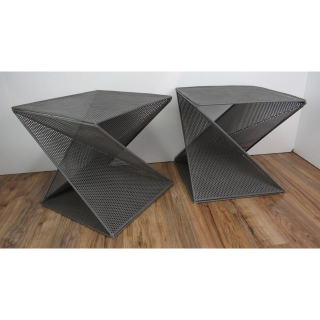 1950s Mathieu Matégot Geometric Side Tables - A Pair For Sale - Image 9 of 13