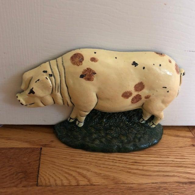 1920s Antique Cast Iron Pig Door Stop For Sale In New York - Image 6 of - 1920s Antique Cast Iron Pig Door Stop Chairish