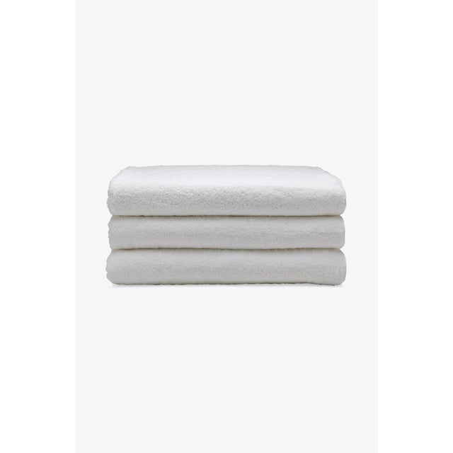 Contemporary Gotham Cotton Sheet Towel in White/Slate For Sale - Image 3 of 3