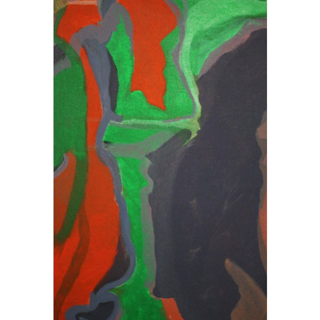 Large Abstract Painting Signed Thomas '82 For Sale - Image 5 of 9