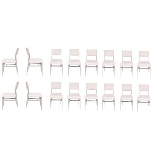 Set of 16 Maze Lacquered Dining Chairs For Sale