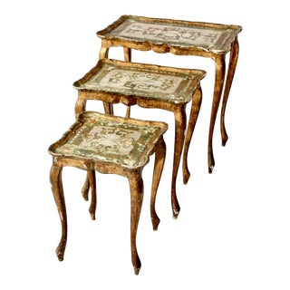Vintage Florentine Gilt Nesting Tables