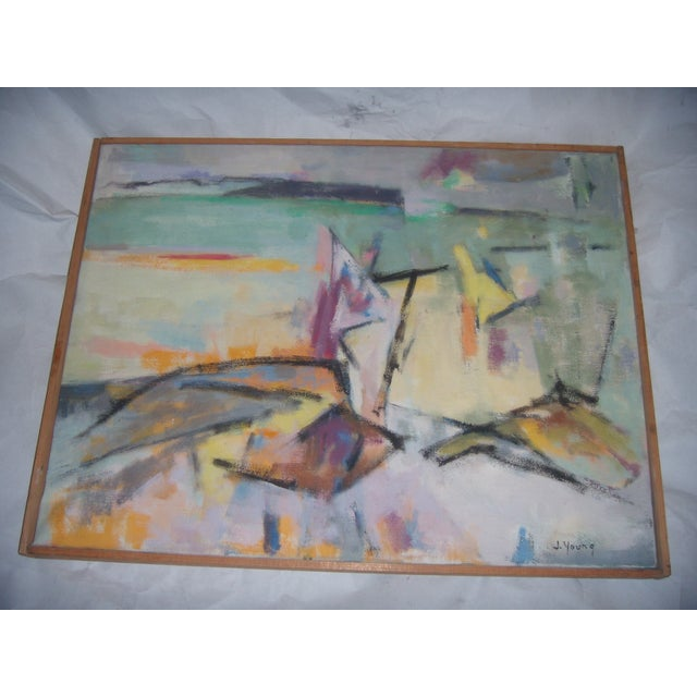 Signed 1961 Jean Young Abstract Painting - Image 2 of 11