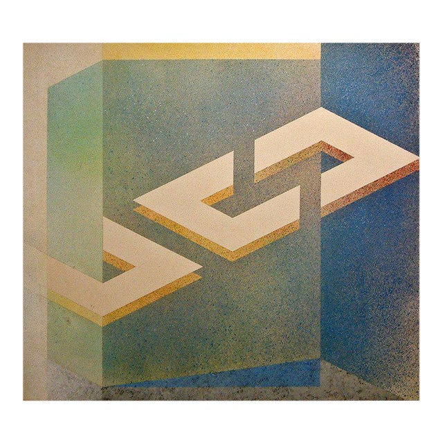 """Astrid Fitzgerald """"No. 41"""" Acrylic on Canvas 1974 - Image 1 of 6"""