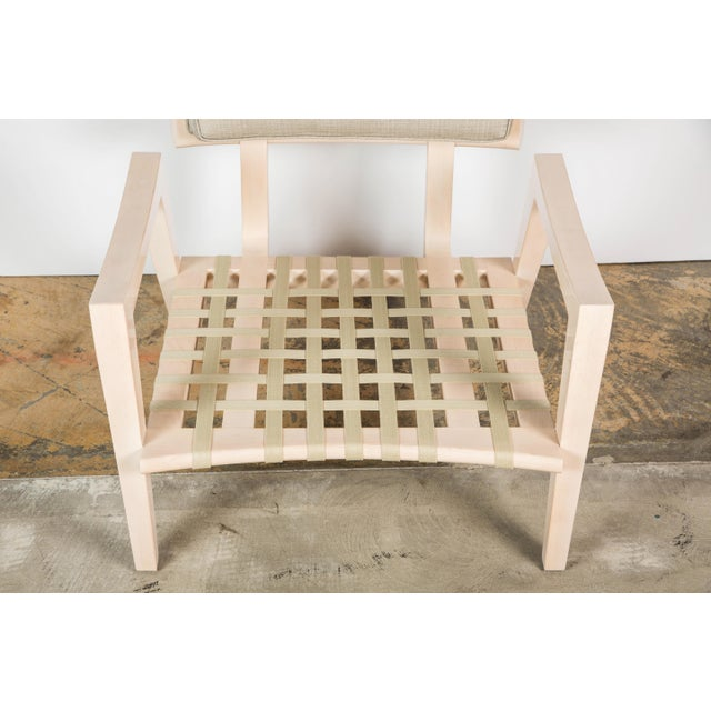 Paul Marra Low Lounge Chair in Bleached Maple For Sale - Image 9 of 9