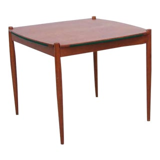 Gio Ponti Beech Wood Poker or Dining Table Made by Fratelli Reguitti For Sale