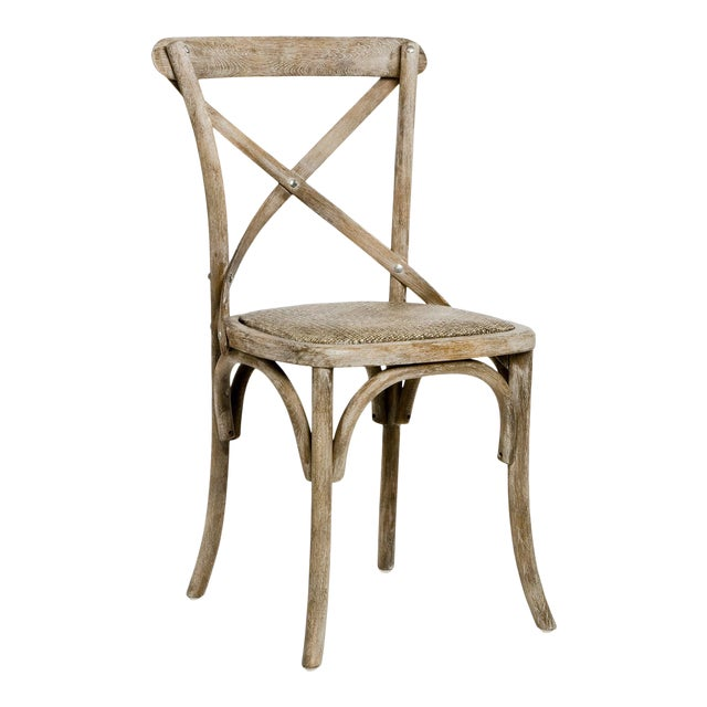 Somer Parisienne Cafe Side Chair in Gray For Sale