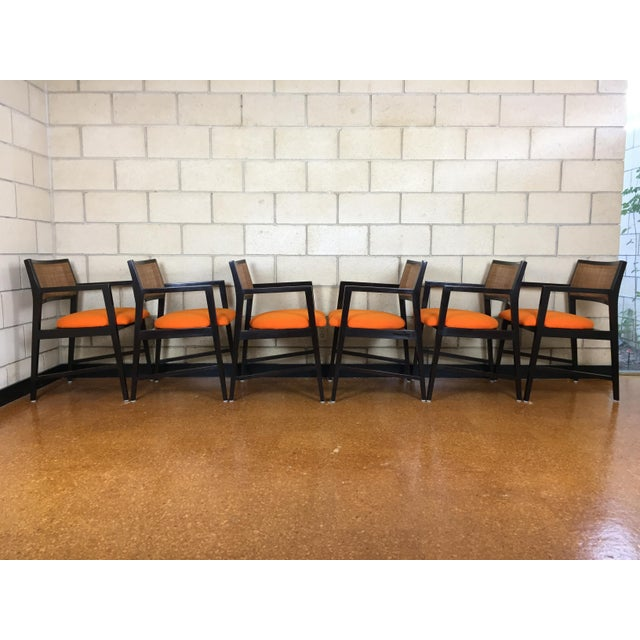 Edward Wormley for Dunbar Dining Arm Chairs - Set of 6 - Image 6 of 11