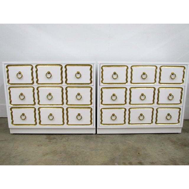Pair of Chests in the Manner of Dorothy Draper España Collection for Heritage For Sale - Image 10 of 12
