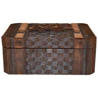 19th C Black Forest Dresser Box For Sale