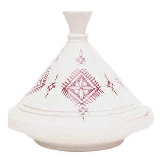Vintage Small Moroccan Ceramic Tajine For Sale