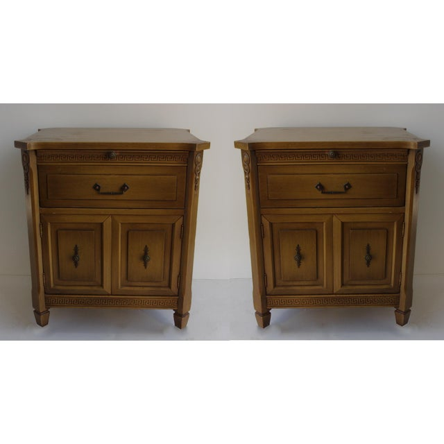 Midcentury Modern Walnut Nightstands - A Pair - Image 4 of 6