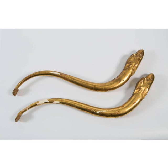 18th Century Gold Leaf Dolphin Shaped Ornaments - a Pair For Sale - Image 11 of 11