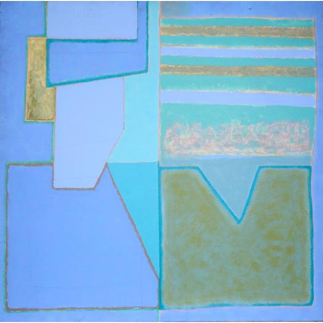 Richard Weston, Blue Composition Painting - Image 1 of 3