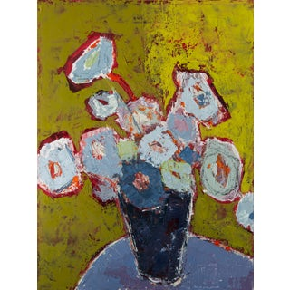 "Bill Tansey ""Blue Vase"" Floral Oil on Canvas For Sale"