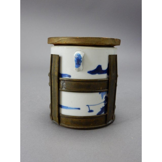 Asian Antique Chinese Blue & White Tea/Tobacco Jar For Sale - Image 3 of 11