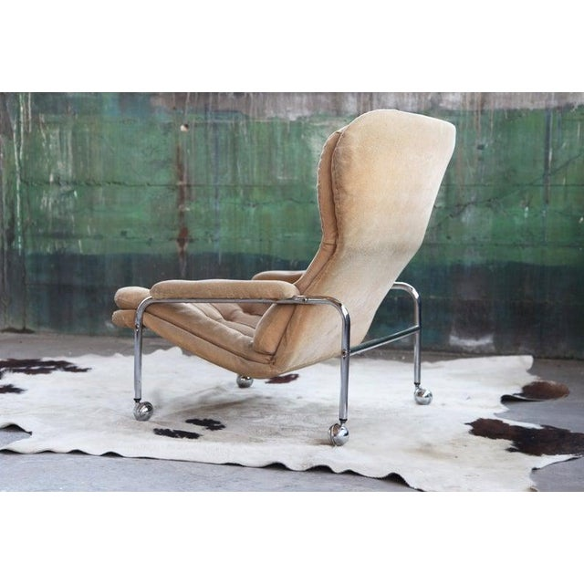Cream Rare Mid Century Vintage Swedish Lounge Chair by Scapa Rydaholm, 1970s For Sale - Image 8 of 10
