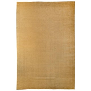 Solid Gold Handwoven Mohair Area Rug by Carini For Sale