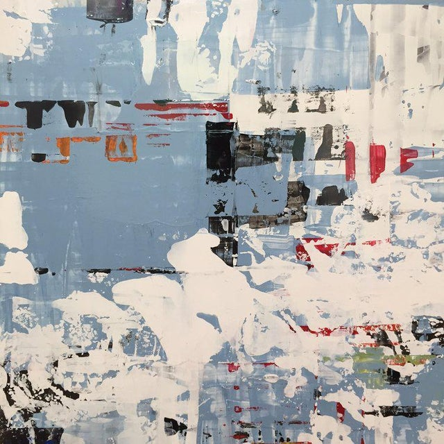 Oil Paint Ned Martin, East River (Horizontal Diptych) Painting, 2018 For Sale - Image 7 of 10
