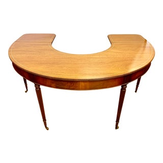 Curved Mahogany Traditional Fox Hunt Table Desk For Sale