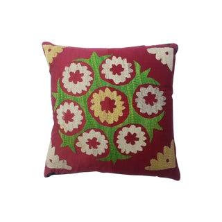 Vintage Suzani Pillow For Sale