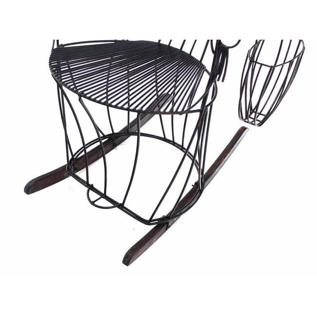 Metal John Risley Welded Wire Rocking Chair For Sale - Image 7 of 10