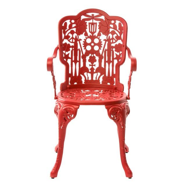 Seletti, Industry Armchair, Indoor/Outdoor, Red, Studio Job, 2017 For Sale