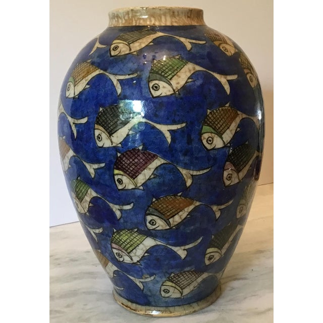 Vintage Persian Fish Vase For Sale - Image 5 of 11