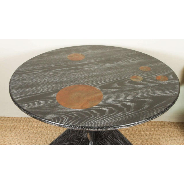 Martin & Brockett Circle Entry Table With X Base - Image 5 of 7