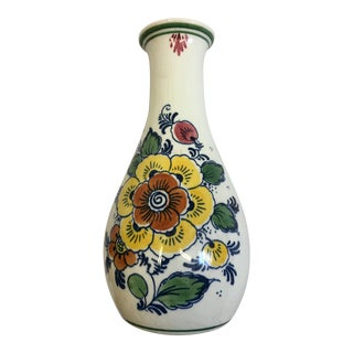 Delft Polychrome Handmade Floral Jug For Sale