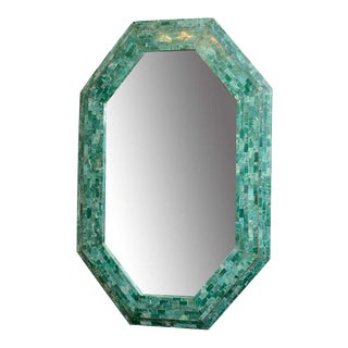 Emerald Maitland-Smith Large Tessellated Marble Mirror For Sale