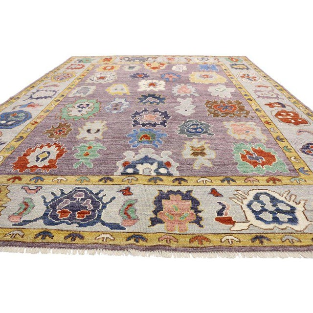 Early 21st Century Contemporary Oushak Style Rug - 8′10″ × 12′2″ For Sale - Image 5 of 8