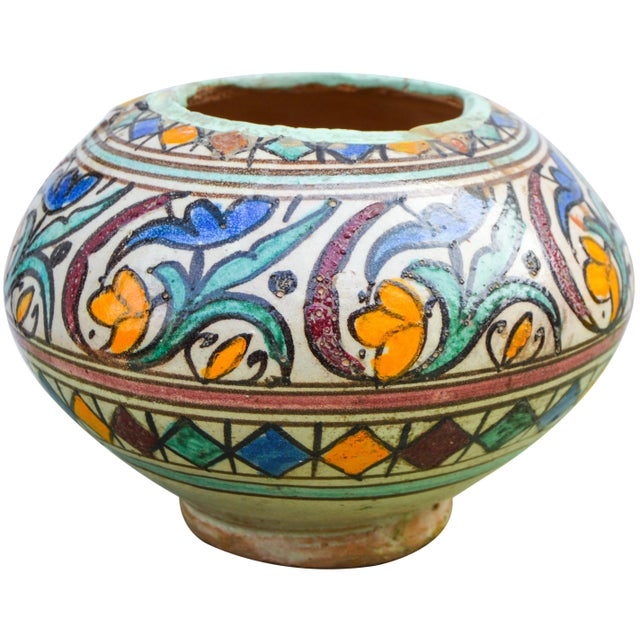Early 20th Century Moroccan Ceramic Vase For Sale - Image 5 of 9