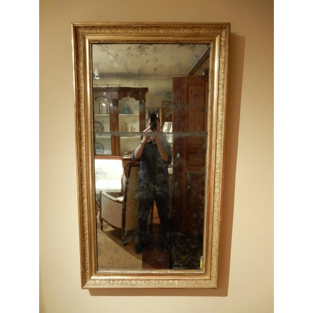 Gold Leaf 19th Century Empire Mirror For Sale - Image 7 of 7