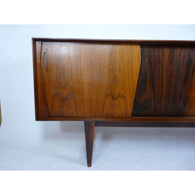 Mid-Century Modern Exceptional Danish Rosewood Credenza For Sale - Image 3 of 10