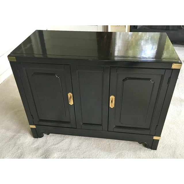 American of Martinsville Asian Style Black Lacquered Buffet - Image 2 of 5