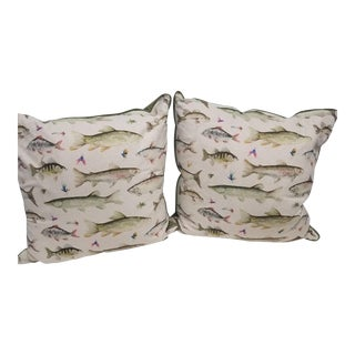 Fish Pillows, Made in Wales - a Pair For Sale