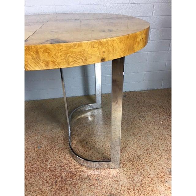 Milo Baughman Burlwood Dining Table - Image 6 of 10