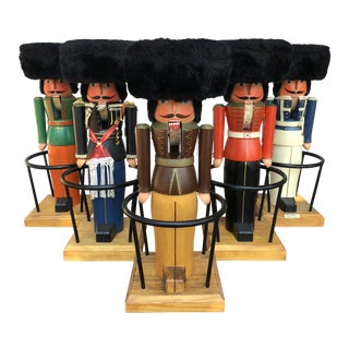 1960s German Nutcracker Bar Stools by Volkmar Matthes Mid Century-Set of 5 For Sale