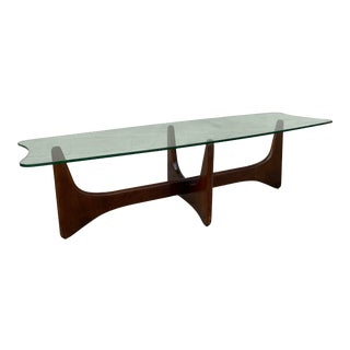 """Adrian Pearsall """"Stingray"""" Glass Top Coffee Table For Sale"""