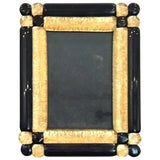 Image of Cobalt and Gold Infused Murano Glass Picture Frame For Sale