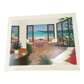 'Beach House' Serigraph by Fanch Ledan For Sale