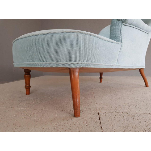 Upholstery Blue French Style Chaise Lounge For Sale - Image 12 of 13