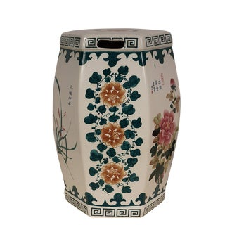 1950s Vintage Chinese Porcelain Garden Seat Stool For Sale