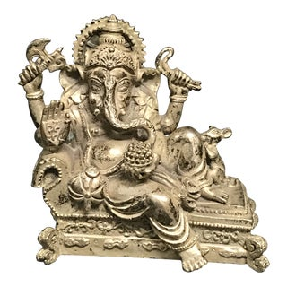 Bronze Chinese Art Ganesh Sculpture For Sale